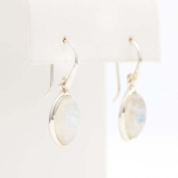 Moonstones in Sterling Silver Earrings - Sindur