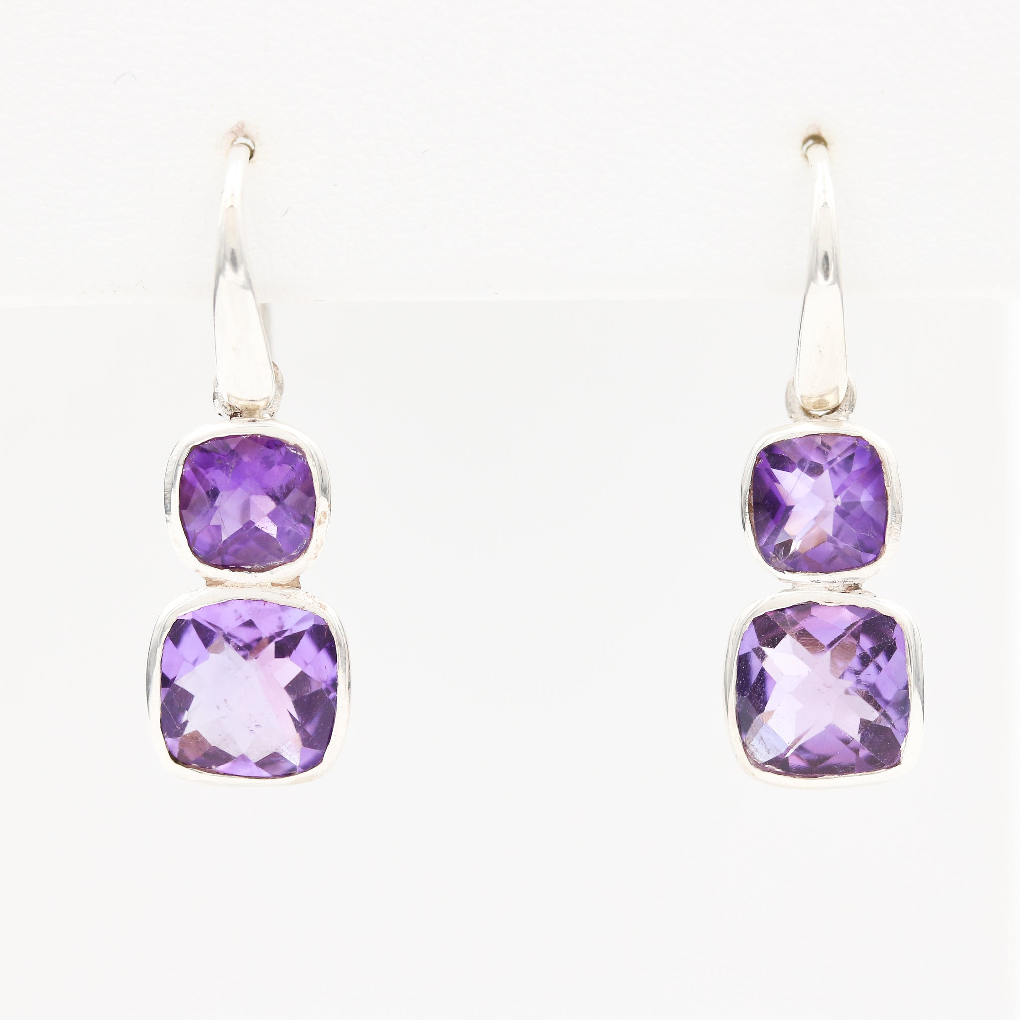 *SOLD* Amethyst in Sterling Silver Earrings - Sindur