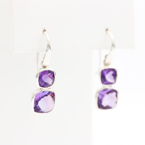 *SOLD* Amethyst in Sterling Silver Earrings - Sindur Style