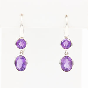 *SOLD* Amethysts in Sterling Silver Earrings - Sindur