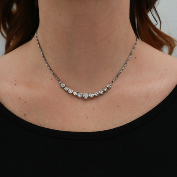 Diamonds in Platinum Necklace