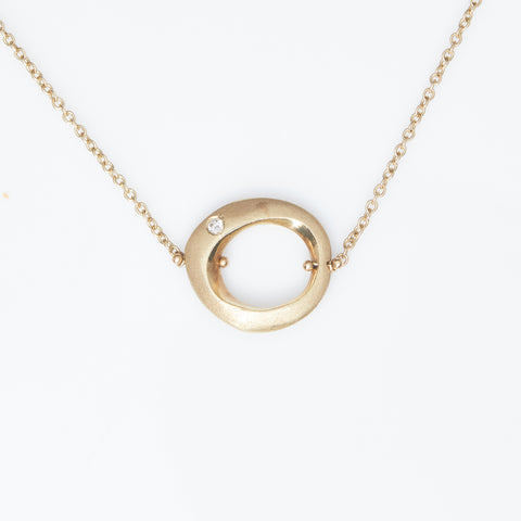 *SOLD* Diamond in Yellow Gold Necklace