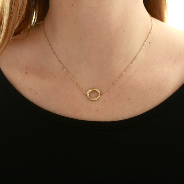 *SOLD* Diamond in Yellow Gold Necklace - Sindur Style