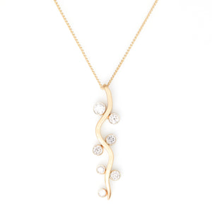 Diamonds in Yellow Gold Necklace - Sindur