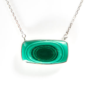 *SOLD* Malachite in Sterling Silver Necklace - Sindur