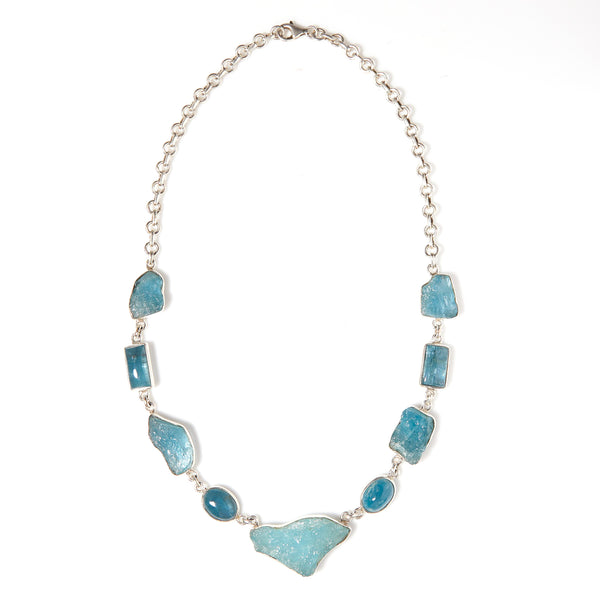 *SOLD* Organic Aquamarines in Sterling Silver Necklace - Sindur