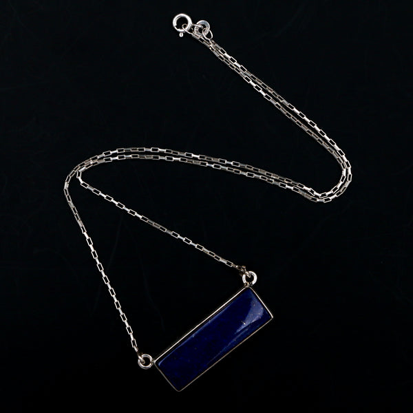 Lapis in Sterling Silver Necklace - Sindur