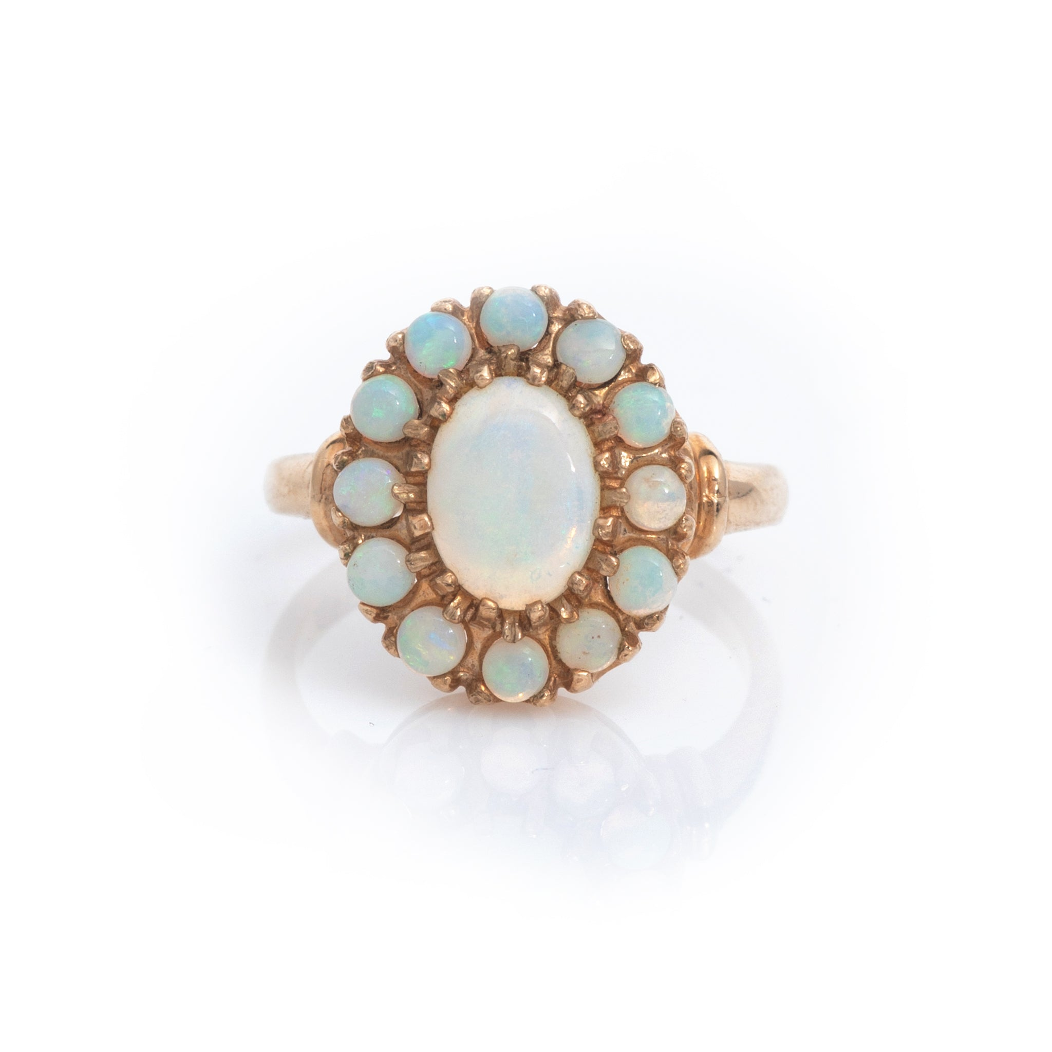 Opals in Vintage Yellow Gold Ring