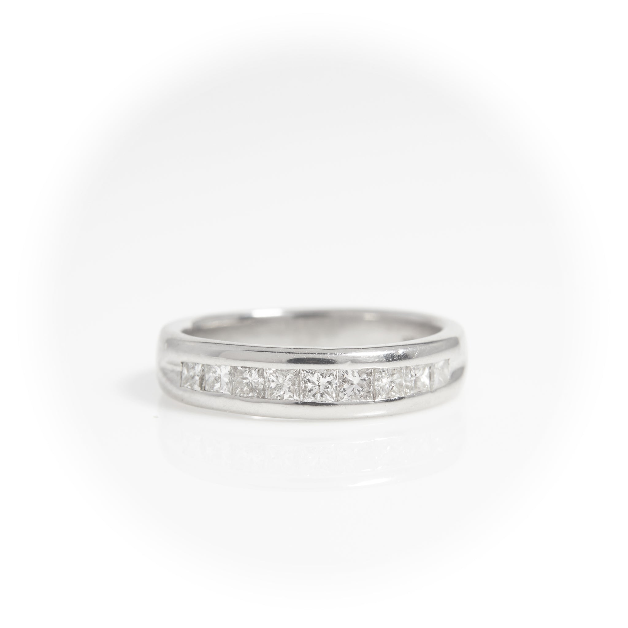 *SOLD*Princess Cut Platinum Ann Band .50ct tw - Sindur