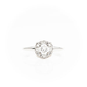 Diamonds in Vintage White Gold Ring