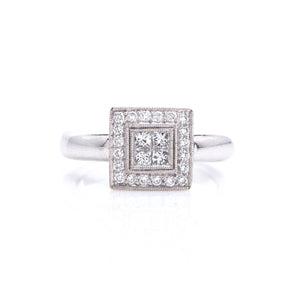 Princess Cut & Round Diamonds in Platinum - Sindur