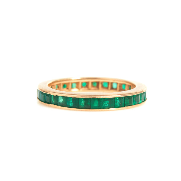 Emeralds in Yellow Gold Eternity Band - Sindur Style