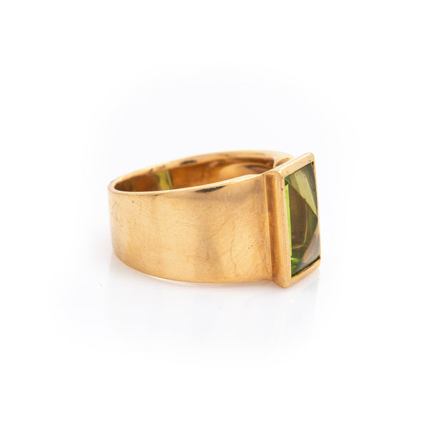Peridot in Yellow Gold Ring - Sindur