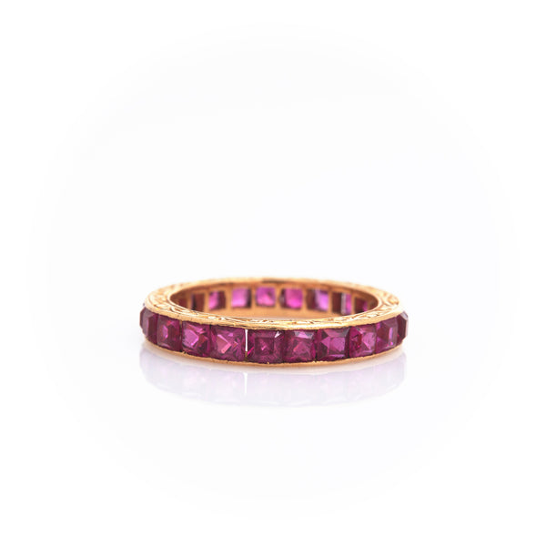 *SOLD* Rubies in Yellow Gold Eternity Band - Sindur Style
