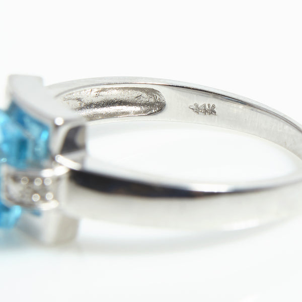 Modern Blue Topaz & Diamond ring - Sindur