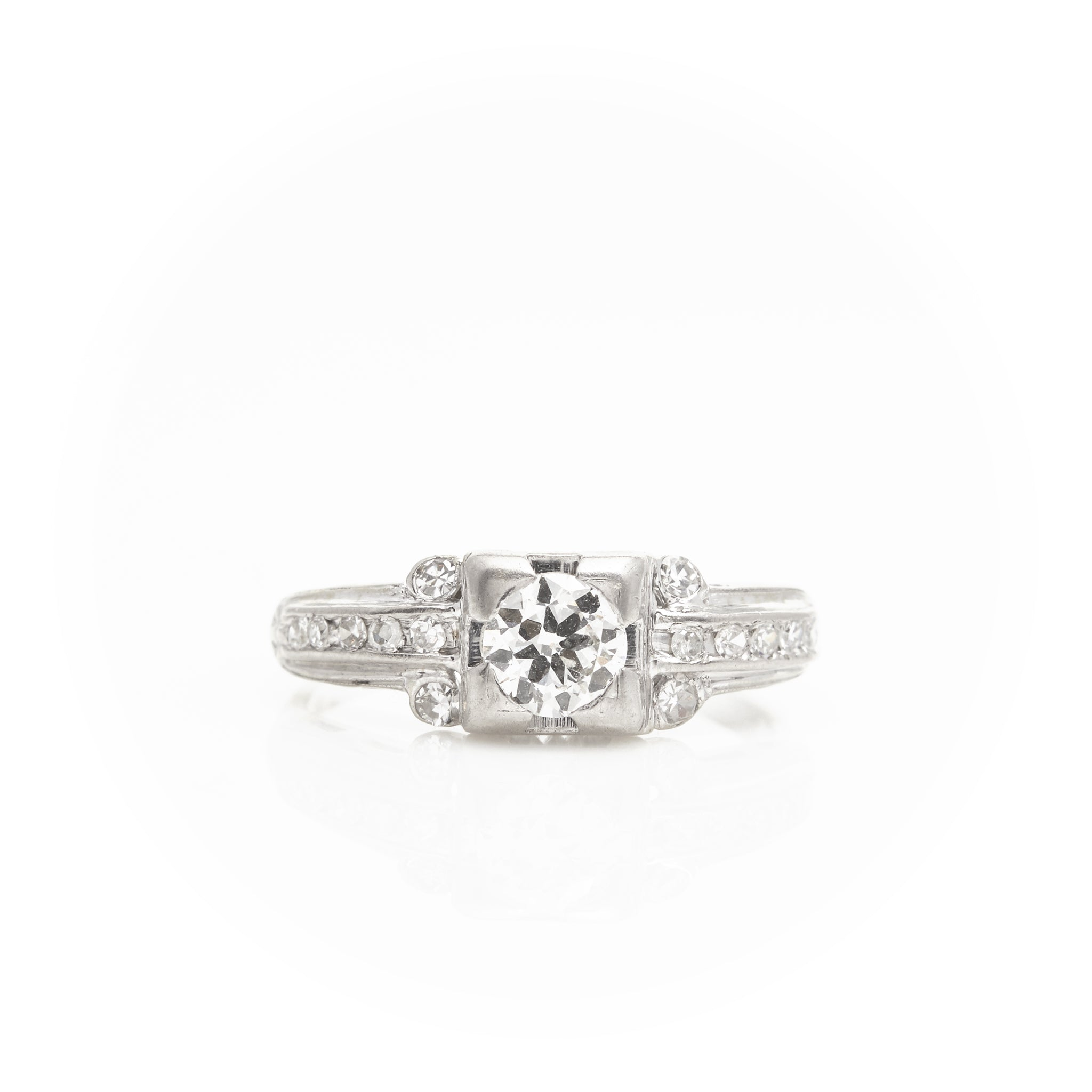 *SOLD* Diamonds in Art Deco Platinum Ring - Sindur