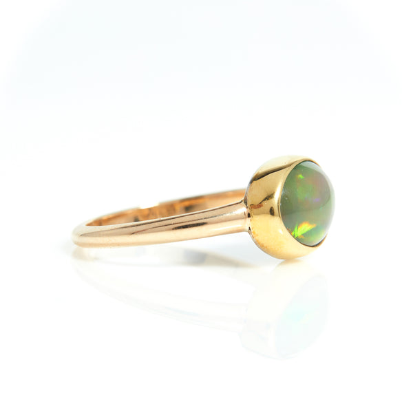 Opal in Yellow Gold Ring - Sindur Style
