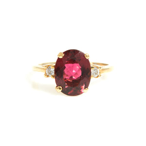 Tourmaline and Diamond Ring in Yellow Gold - Sindur Style