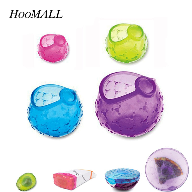4Pcs/Set Silicone Covers/no more decaying fruit