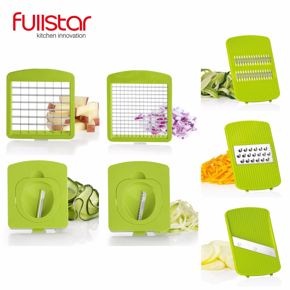 Food Chopper Vegetable Cutter with 7 Blades