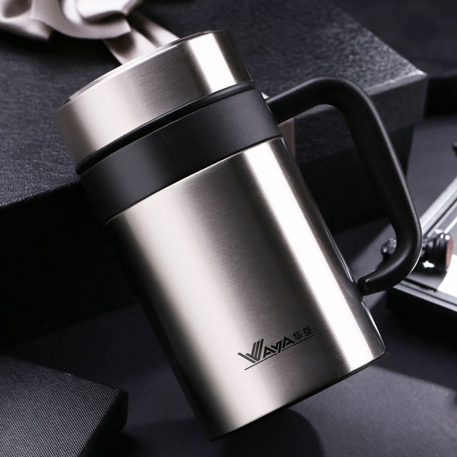 Thermos Stainless Steel Coffee Mug with tea infuser/coffee or tea?