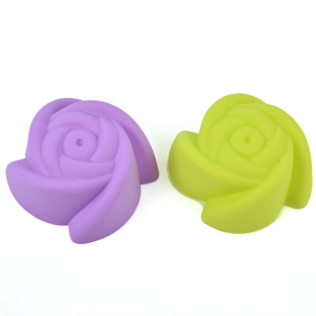 5pc Silicone Rose/Heart Shape/Spiral/star Cake Mold