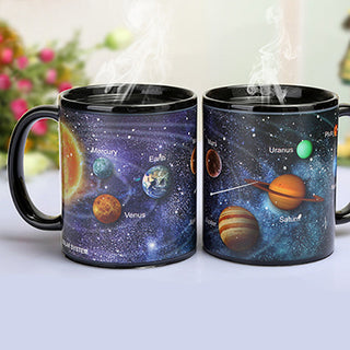 Creative Porcelain Changing Mug The Solar System/amazing