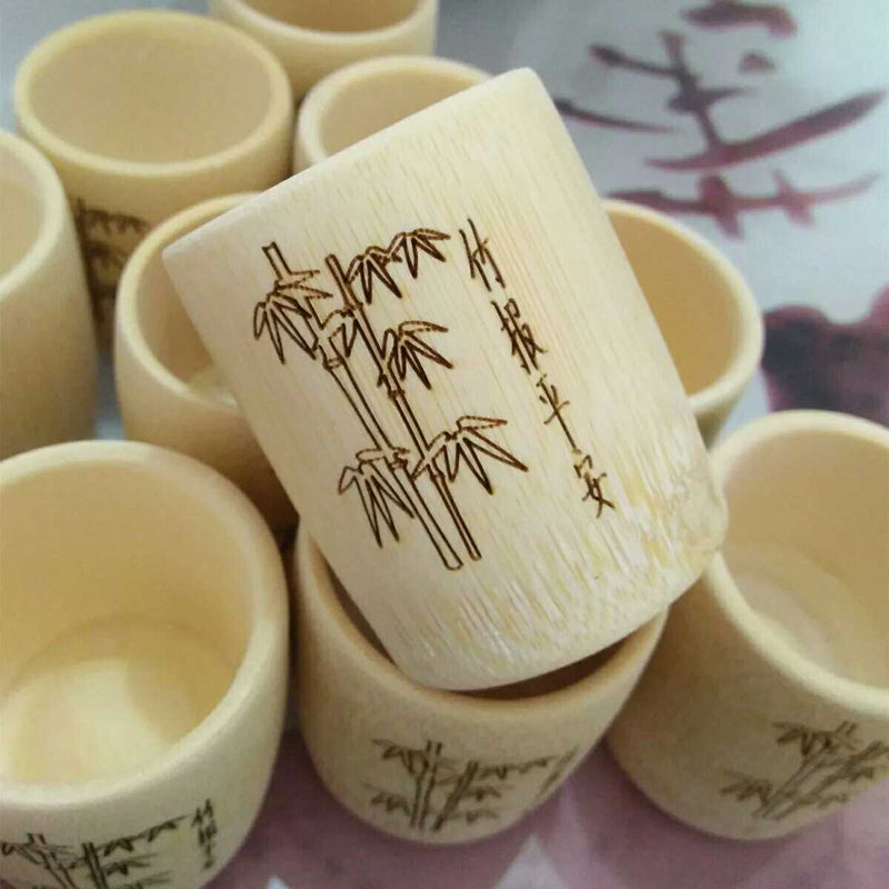 Custom natural bamboo cups and mugs/here's your Zen