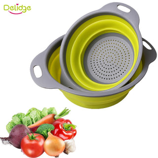 2 pcs/set Collapsible Colanders