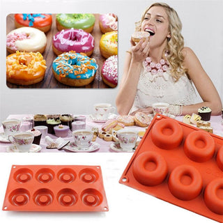 8 Hole Silicone Donut maker mold