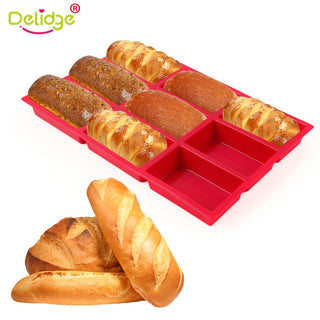 9 Loaf Rectangular Silicone Bread Cake Mold