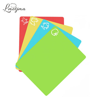 4Pcs Set Extra Thick Flexible Plastic Cutting Board