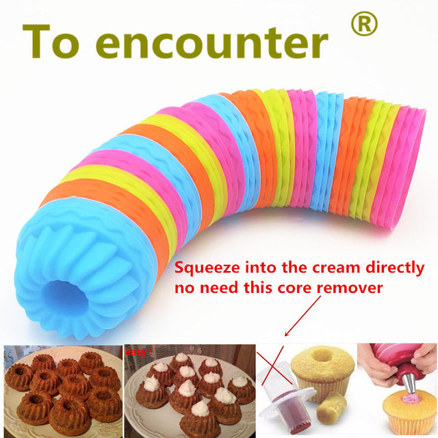12 PCS/ Silicone Pumpkin Round Shape Cake Cup