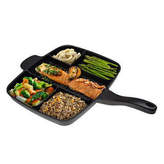 "Wholesale  Non-Stick 5 in 1 Fry Pan  15"" Black"