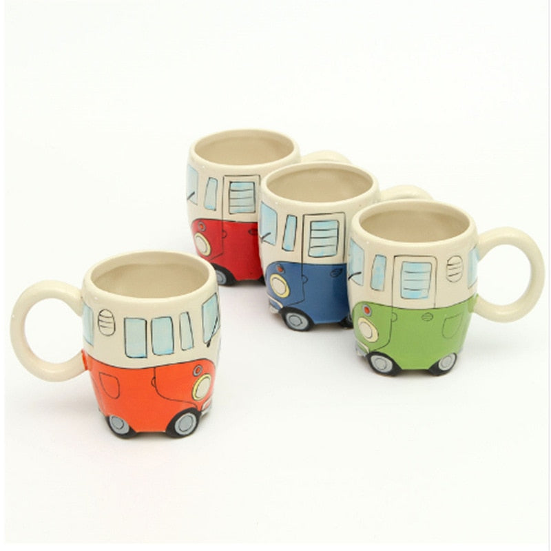 Ceramic Retro Bus Coffee Mugs