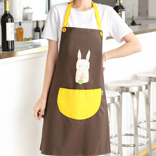 Waterproof Bib Apron with pocket