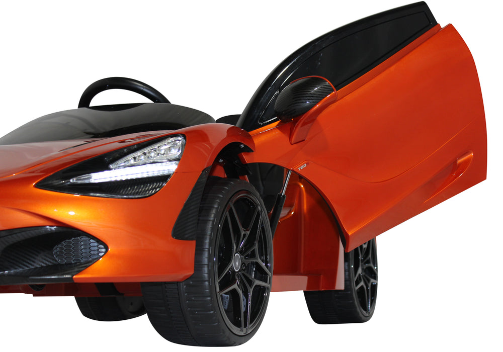 Load image into Gallery viewer, Orange | 12V Licensed Mclaren Kid Car with Lambo Doors and Parental Remote