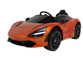 Orange | 12V Licensed Mclaren Kid Car with Touchscreen TV and Parental Remote