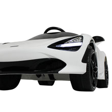 Load image into Gallery viewer, White | 12V Licensed Mclaren Kid Car with Lambo Doors and Parental Remote