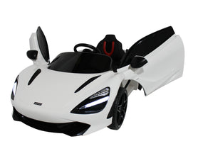 White | 12V Licensed Mclaren Kid Car with Lambo Doors and Parental Remote