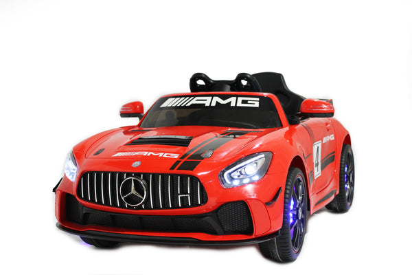 Licensed Mercedes GT AMG Special Edition Kids Car with TV and Parental Remote 12V | Red