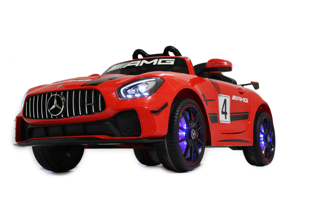 Load image into Gallery viewer, Licensed Mercedes GT AMG Special Edition Kids Car with TV and Parental Remote 12V | Red - Shop Remote control kids electric cars & motorcycles