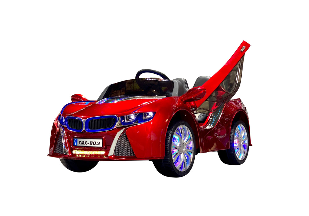 Load image into Gallery viewer, Ruby Red | Baby Beamer Kids Car with Touch Screen TV and Butterfly Doors