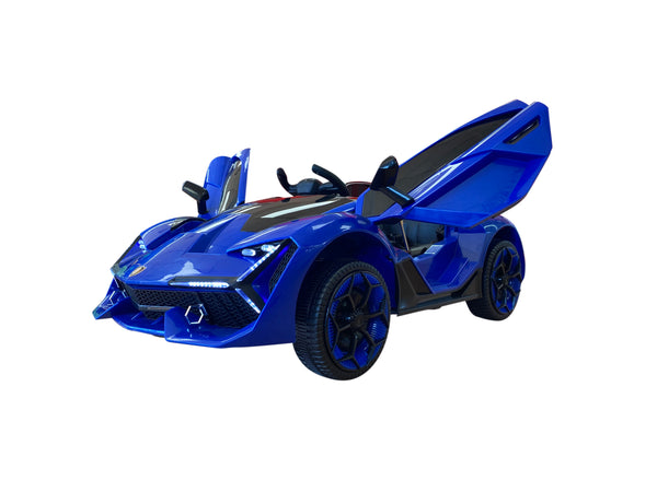 Lamborghini Style Kids Car with Parental Remote Control 12V | Blue