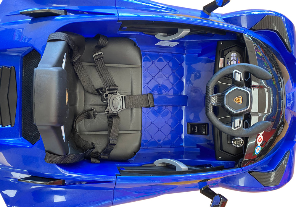 Load image into Gallery viewer, Lamborghini Style Kids Car with Parental Remote Control 12V | Blue