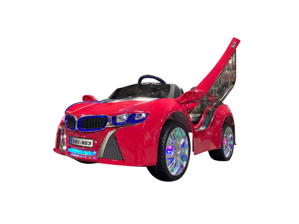 Hot Pink | Baby Beamer Kids Car with Touch Screen TV and Butterfly Doors