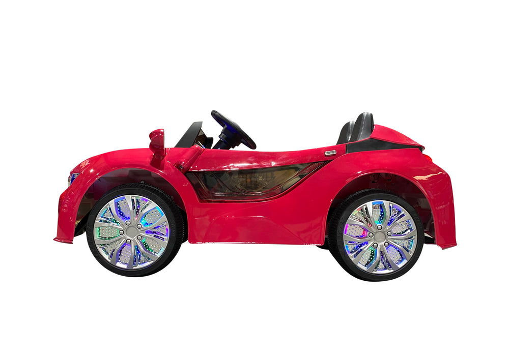 Load image into Gallery viewer, Hot Pink | Baby Beamer Kids Car with Touch Screen TV and Butterfly Doors