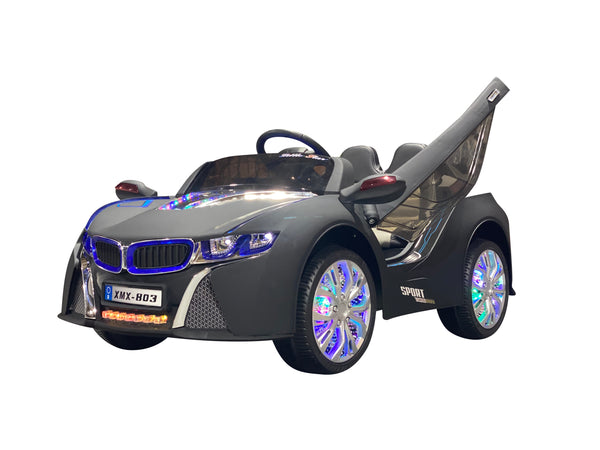 Matte Black | Baby Beamer Kids Car with Touch Screen TV and Butterfly Doors
