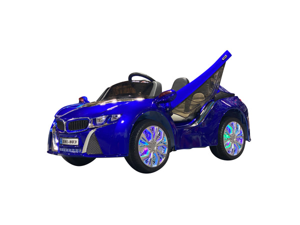 Royal Blue | Baby Beamer Kids Car with Touch Screen TV and Butterfly Doors