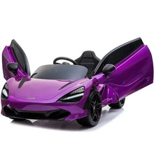 Load image into Gallery viewer, Purple | 12V Licensed Mclaren Kid Car with Touchscreen TV and Parental Remote